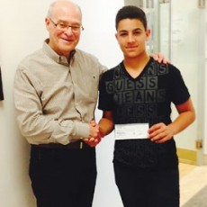 JGH Foundation President and CEO Myer Bick with Jacob Frankiel