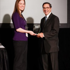 Dr. Mark Wainberg received the 2014 John G. Fitzgerald - CACMID Award in Victoria, B.C., this past spring from Heather J. Adam, President of the Canadian Association for Clinical Microbiology and Infectious Diseases.