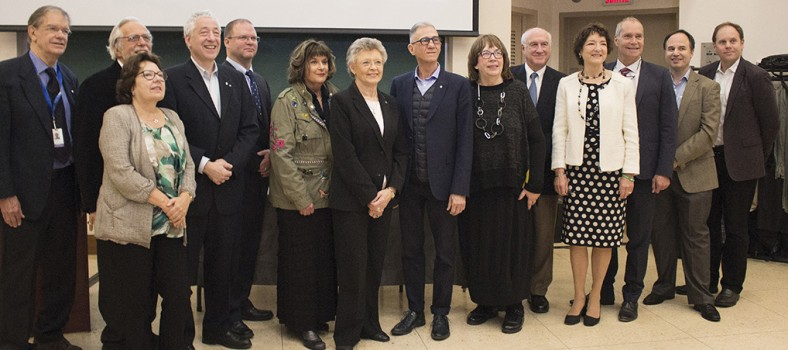 Participants and organizers of the JGH symposium on emerging and complex infectious diseases gather to honour the late Dr. Mark Wainberg.