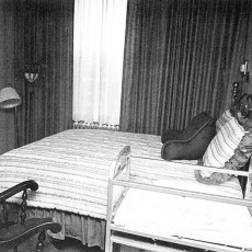 The JGH's first birthing room featured a comfortable double bed, a rocking chair and a crib for the baby. There was also an adjoining room where the new parents could relax with visitors.