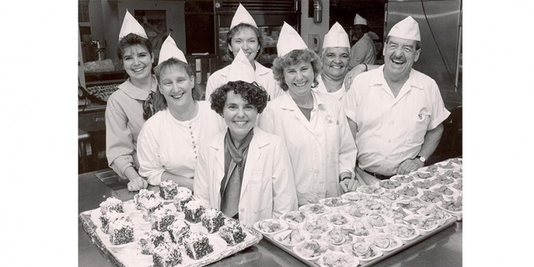 Cafeteria staff in 1992.