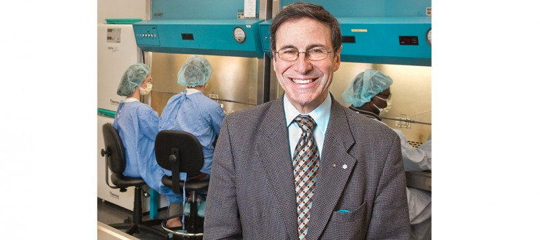 Dr. Mark Wainberg attends the launch of the HIV/AIDS Bio-containment Laboratory in 2007.
