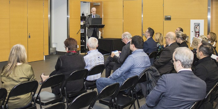 Dr. Lawrence Rosenberg, President and CEO, at the fourth annual Public Information Meeting of CIUSSS West-Central Montreal.