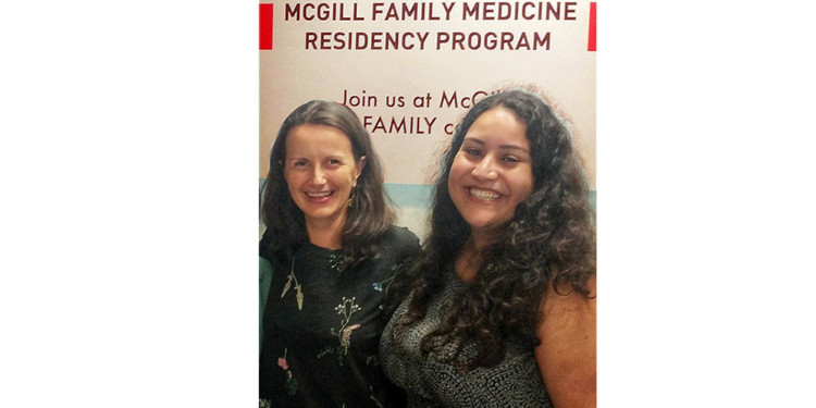Vera Granikov (left) and Reem El Sherif developed the Online Health Information Aid to guide clinicians and patients to credible and reliable health care web sites.