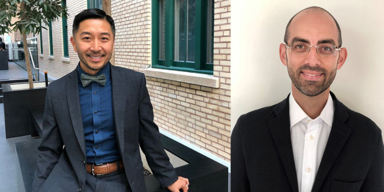 Tung Tran (left), Director of the CIUSSS's Mental Health and Addiction Program, and Dr. Marc Miresco, JGH Director of Adult Psychiatric External Services.